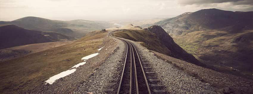 Empty railway – Facebook cover