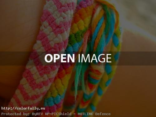 Shiny colorful bracelets
