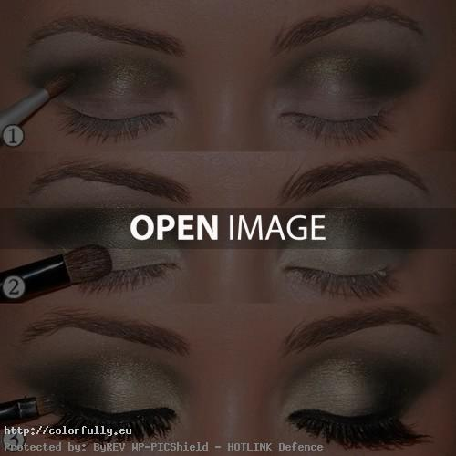 How to make gold eye make up