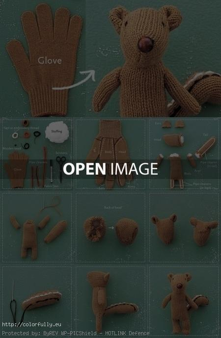 How to make Home made glove squirrel