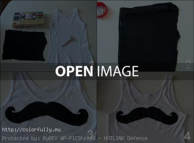 How to make DIY T-shirt mustache