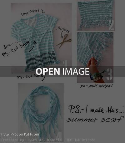 How to make a scarf from a t-shirt