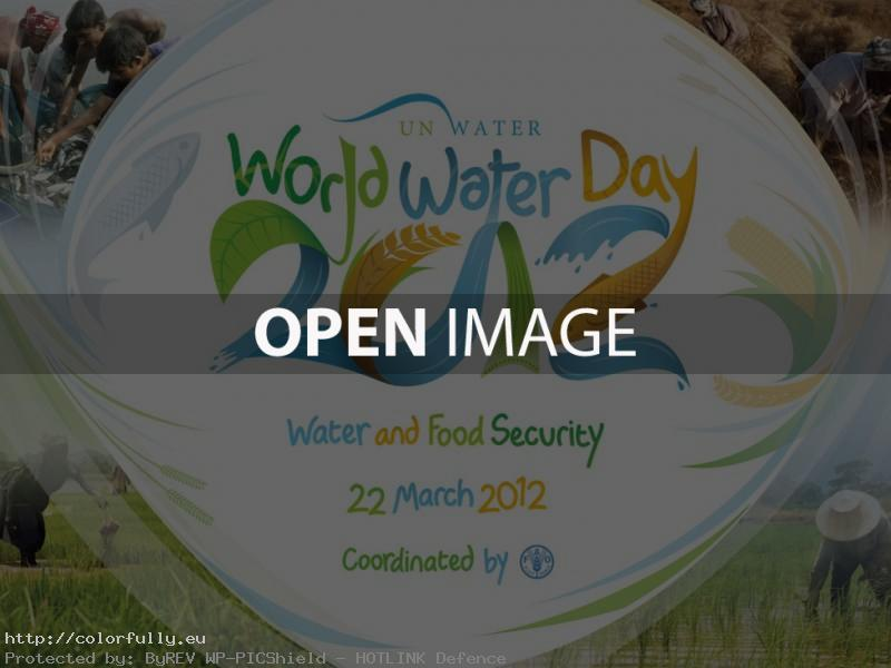 World Water Day 2012 - The World Is Thirsty Because We Are Hungry