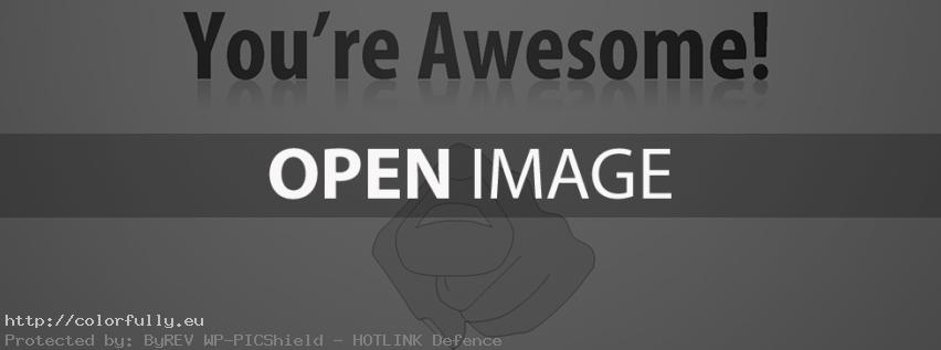 You are awesome! Facebook Cover