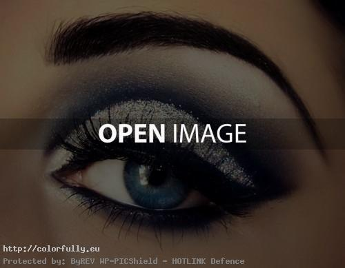 Beautiful dark eye make up