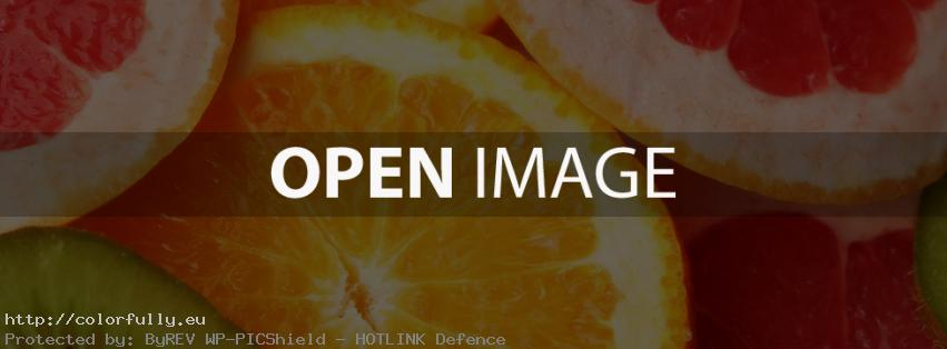 Colorful fruit mixture – Facebook cover