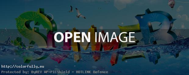 Colorful summer letters – Facebook cover