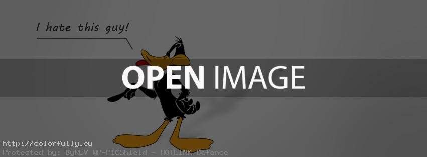Duffy duck - I hate this guy - Facebook cover