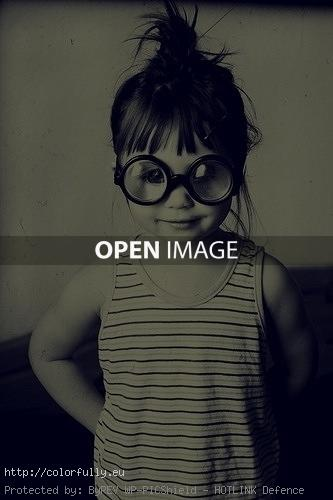 Funny girl with glasses