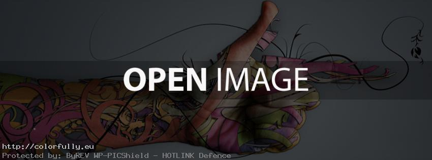 Tattoo hand facebook timeline cover