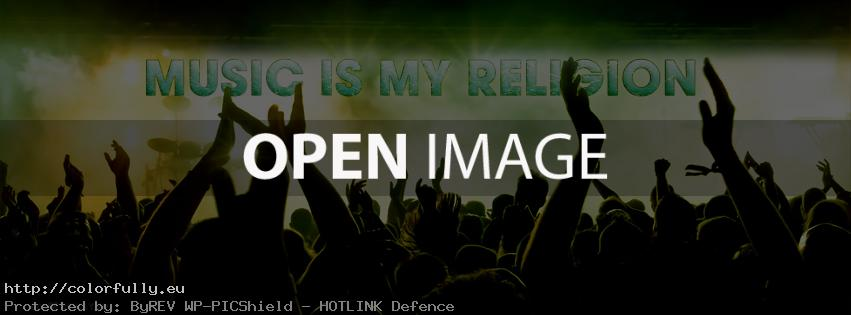 Music is my religion - Facebook cover
