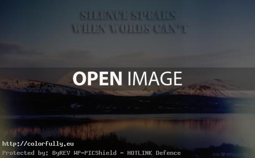 Silence speaks when words cant