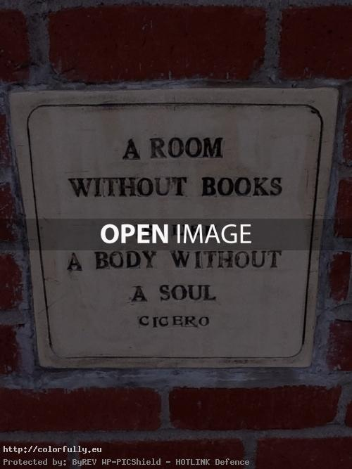 A room without books its like body without a soul