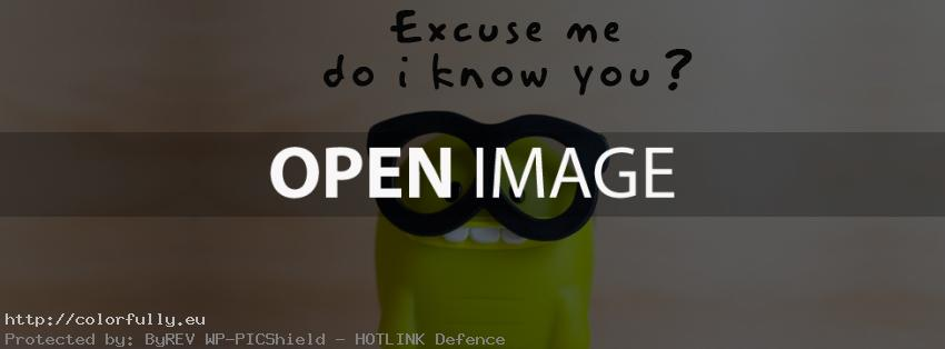 Excuse me, do i know you – Facebook Cover