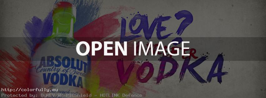Love? No. I prefer vodka - Facebook cover