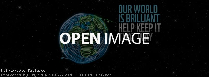 Save the world – Facebook cover