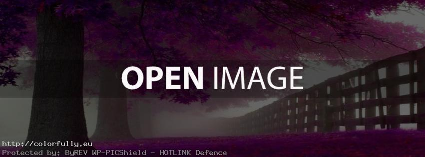 Purple trees - Facebook Cover