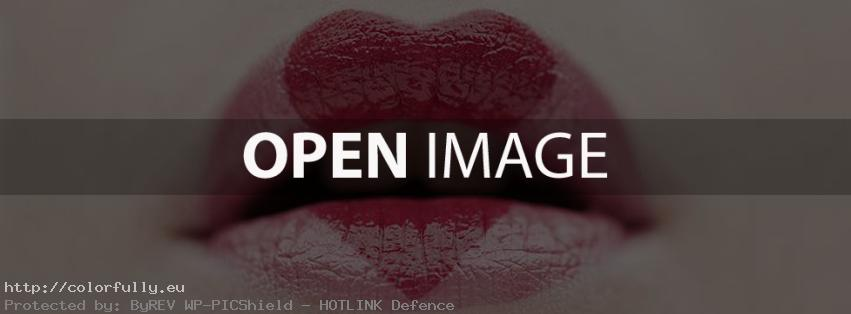 Sexy lips - Heart lipstick - Facebook Cover