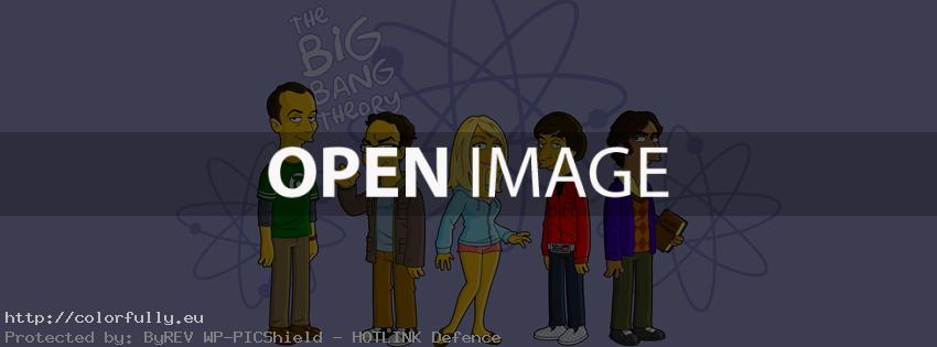 The Big Bang Theory like Simpsons - Facebook cover