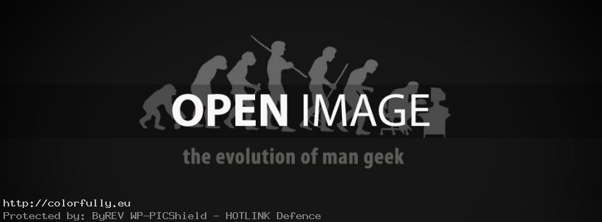 The evolution of man geek - Facebook Cover
