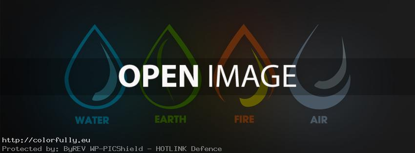 The Four Elements - Water, Earth, Fire, Air - Facebook cover