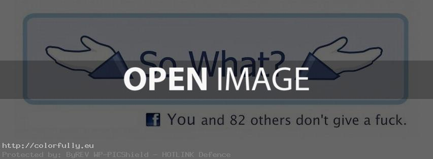So what? – Facebook cover