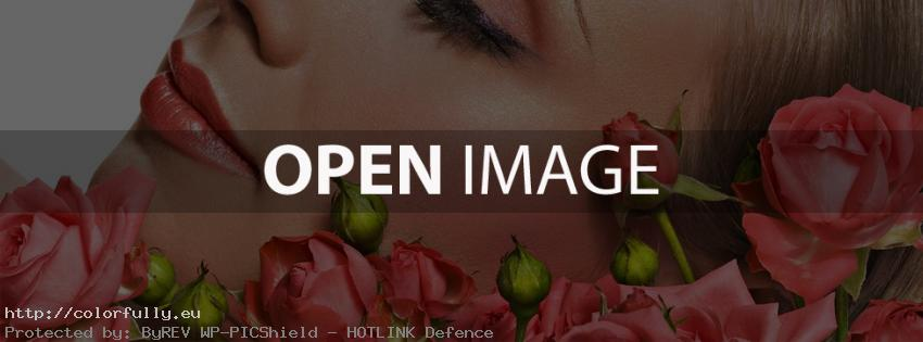 Beautiful girl and roses – Facebook cover