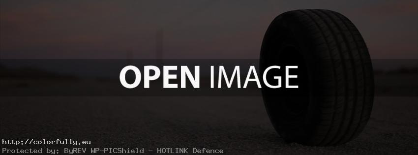 Car tire on the road – Facebook cover