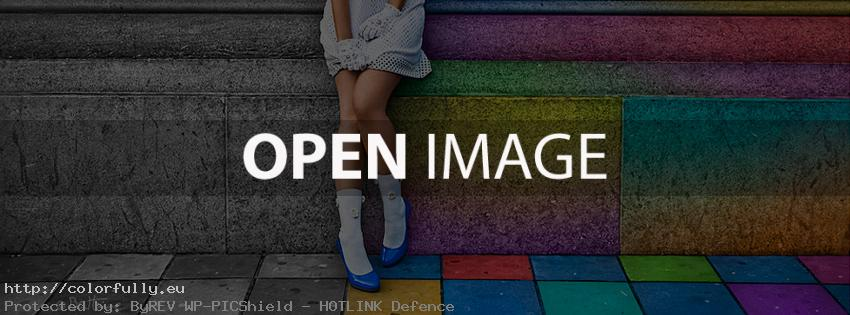 Colorful wall and a girl – Facebook cover