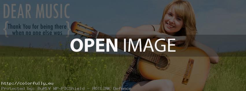 Dear music, thank you for being there when no one else was - Facebook cover