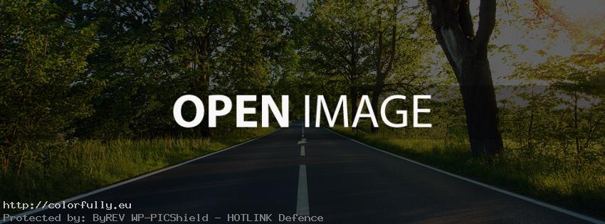 Empty road – Facebook cover