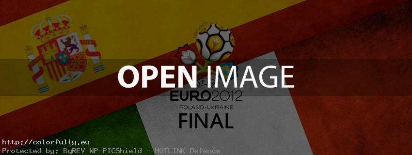 Euro 2012 Final - Spain vs Italy - Facebook cover
