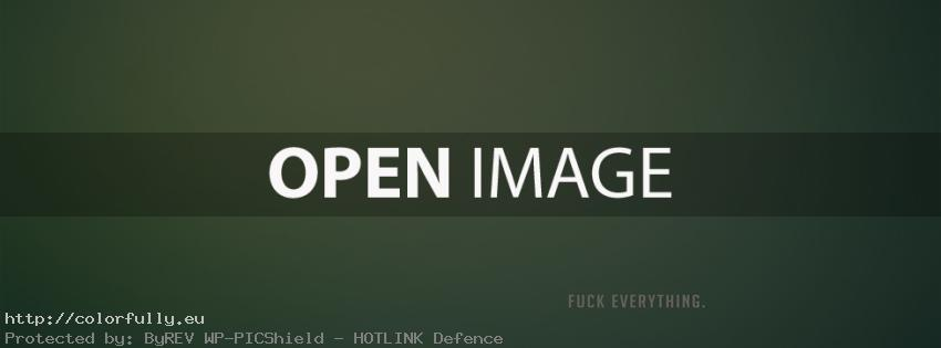 F..k everything – Facebook cover