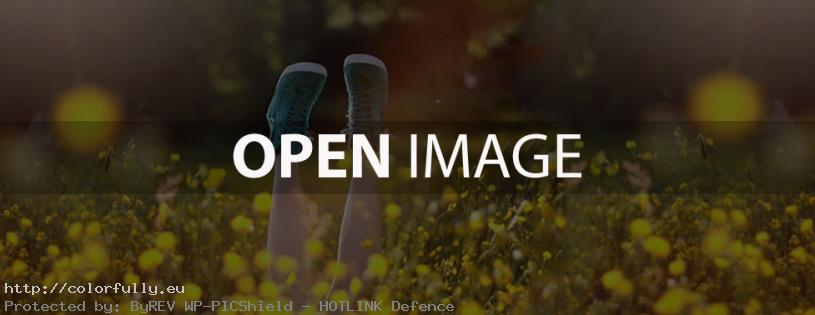 Happy feet and yellow flowers – Facebook cover