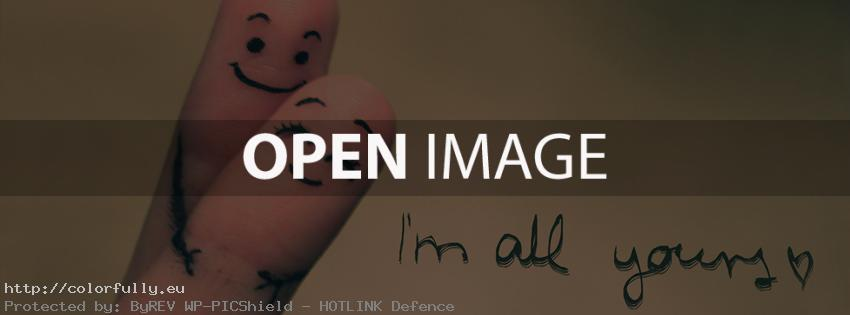 I am all yours – Facebook cover