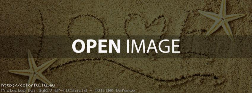Love sand text – Facebook cover