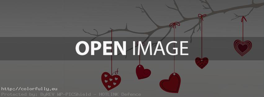 Colorfully Free Facebook Covers Tree Hanging Hearts Cover