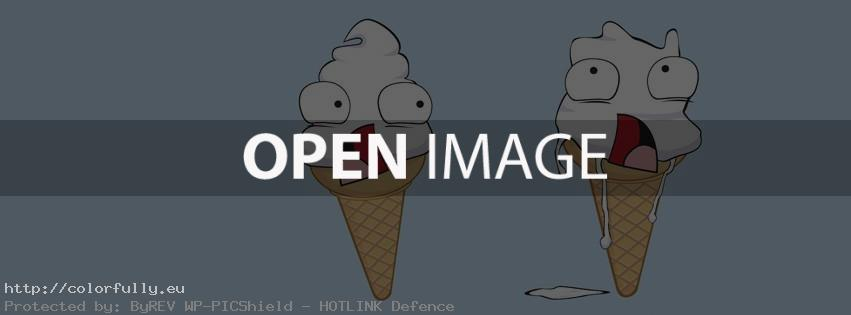 Melting ice creams – Facebook cover
