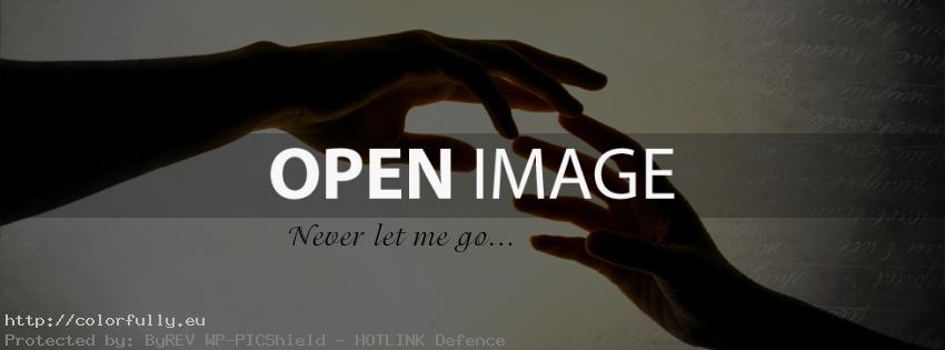 Never let me go - Facebook cover