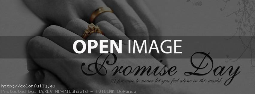 Promise day: I promise to never let you feel alone in the world - Facebook cover