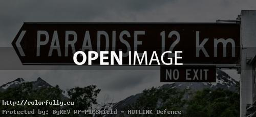 12 km to Paradise sign