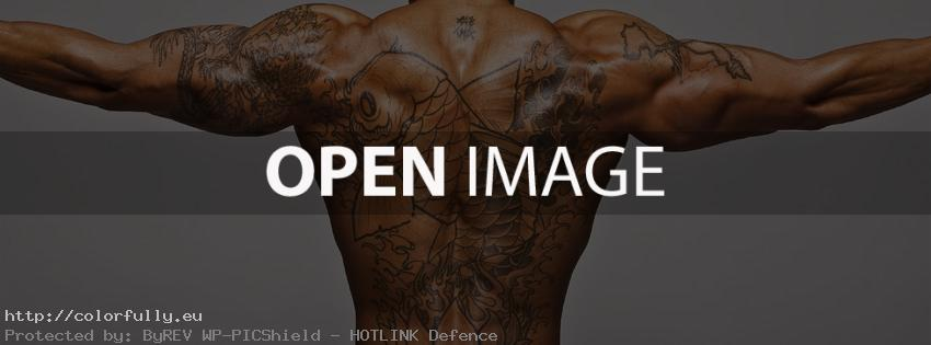 Strong men with tattoos - Facebook cover