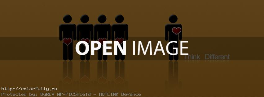Think different – Funny Facebook cover
