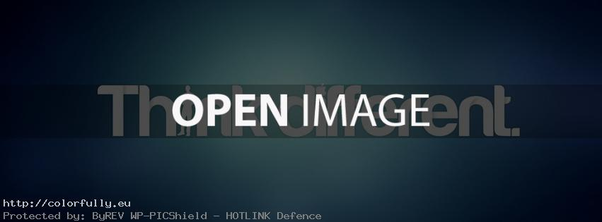 Think different - Facebook cover