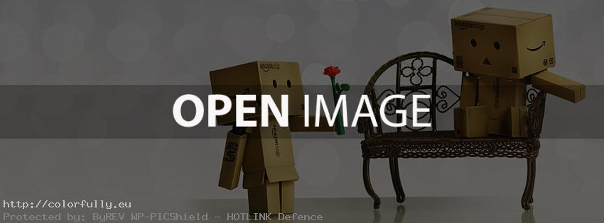 Valentine's day flower gift - Facebook cover