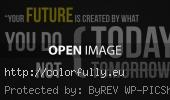 Your future is created by what you do today not tomorrow - Facebook cover