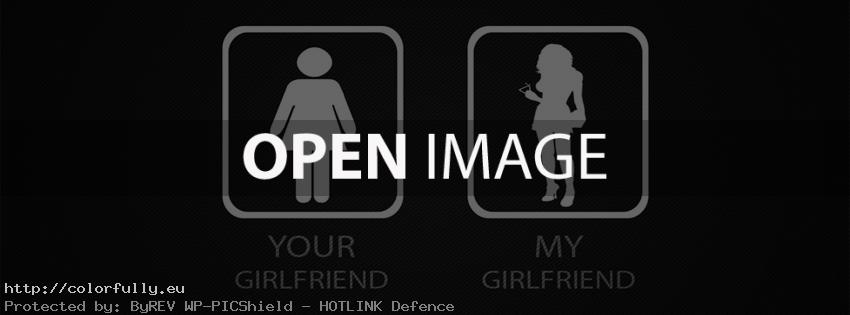 Your girlfriend and My girlfriend - Facebook cover