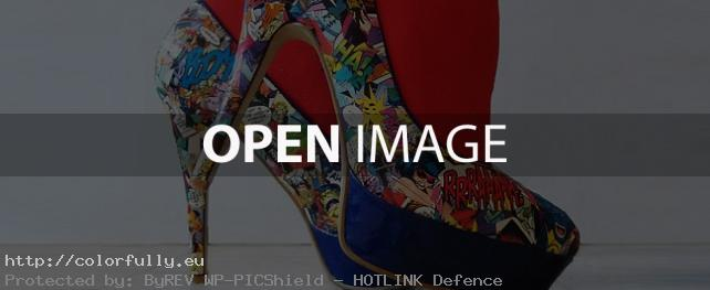 Geeky DIY Comics Women High Heels Shoes
