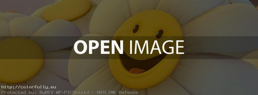 Be happy – sunflower – Facebook cover