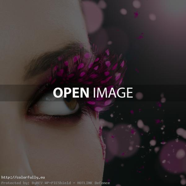 Beautiful pink cilia make-up